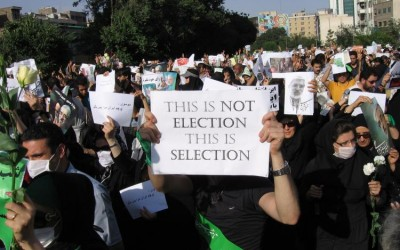 """Join United for Iran in a worldwide campaign: """"Elections Aren't Free Until We Are All Free"""""""